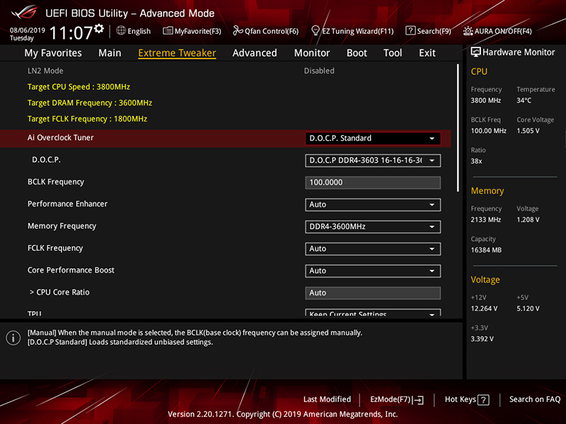 The D.O.C.P Standard profile is what ASUS calls XMP on AMD motherboards.