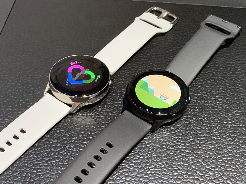 The Samsung Galaxy Watch Active was announced in February 2019.