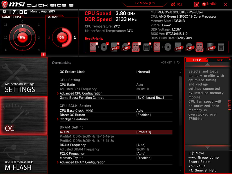 There's a greater focus on visuals in MSI's Click BIOS 5.