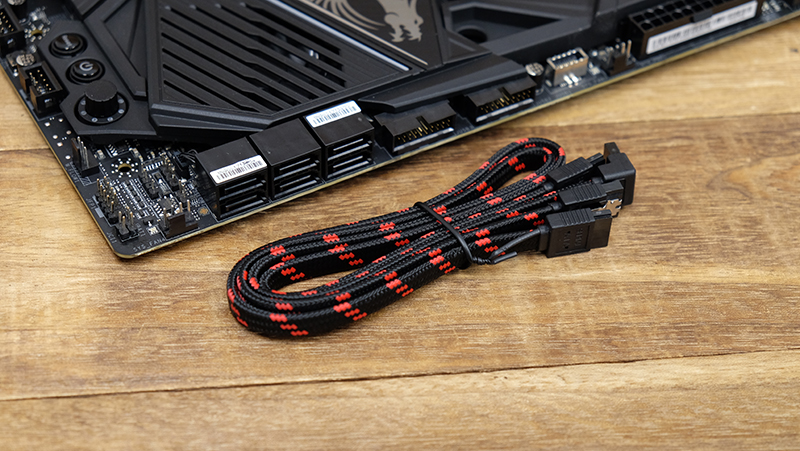 The Godlike comes bundled with sleeved SATA cables.