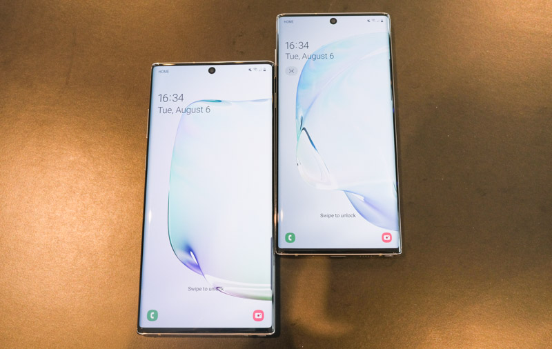 The Note10 and Note10+ are almost all display.
