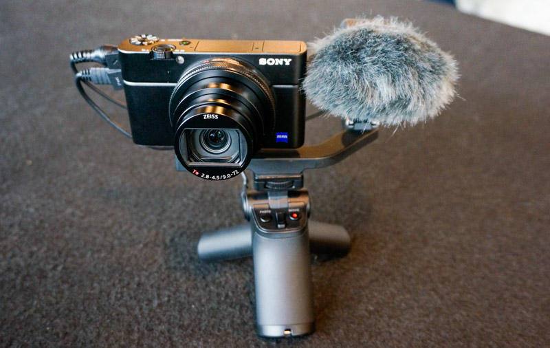 The camera can now be connected to a dedicated microphone for better audio capture.