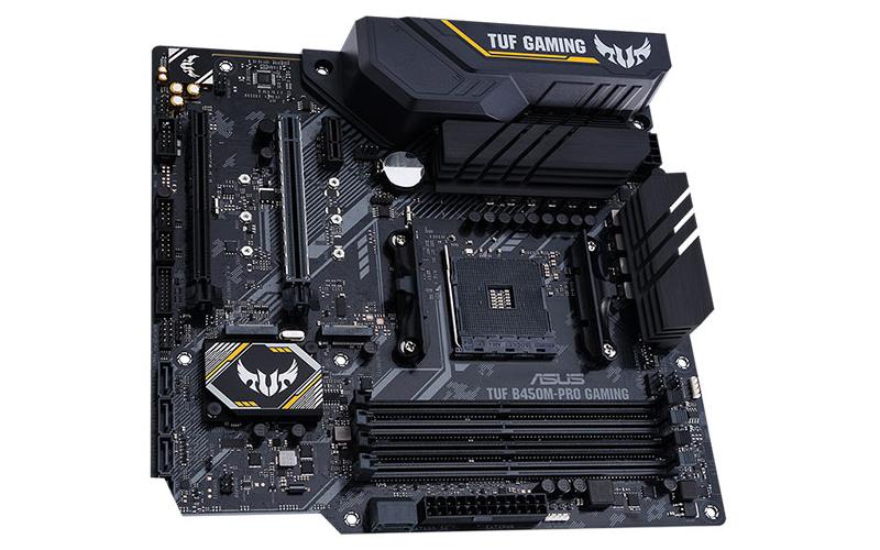 ASYS TUF B450M-Pro Gaming. (Image Source: ASUS)