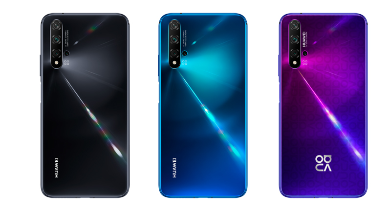 left: Black, middle: Crush Blue, right: Midsummer Purple (Image source: Huawei)