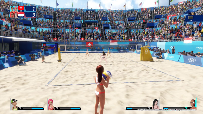 Beach volleyball is a lot of fun.