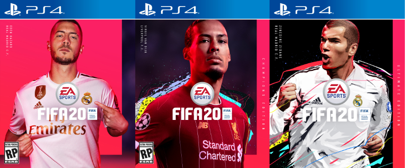 The FIFA 20 Standard, Champions and Ultimate editions.