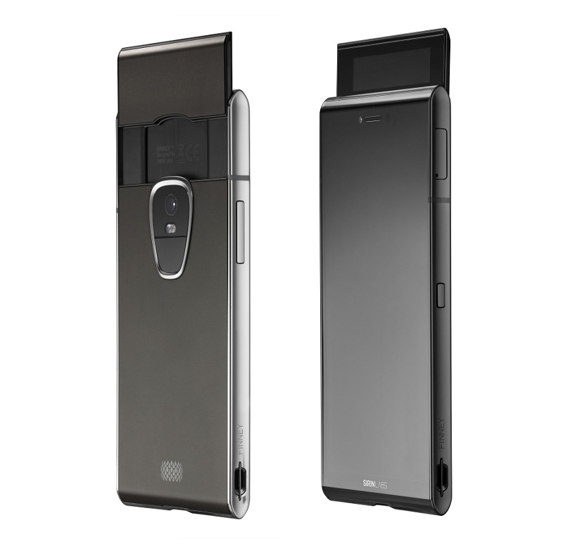 Sirin Labs' Finney smartphone comes with a pop-up 2-inch multi-touch safe screen. You use it to enter your password whenever you need to access, store or transfer cryptocurrencies from the build-in cold storage wallet in the phone.