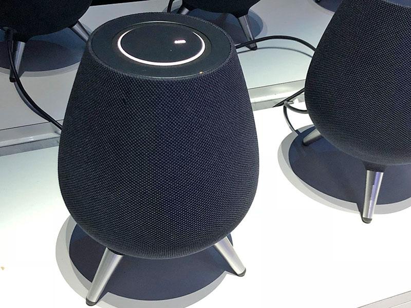 The Samsung Galaxy Home smart speaker.
