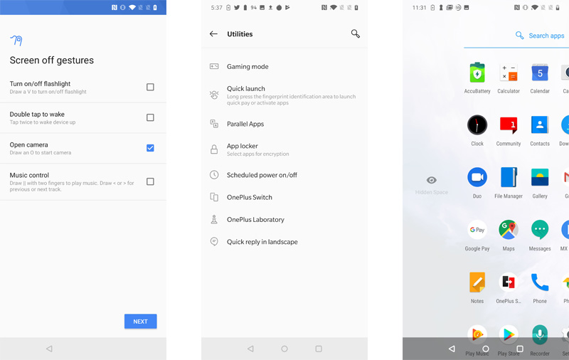 Oxygen OS adds some handy features over stock Android.
