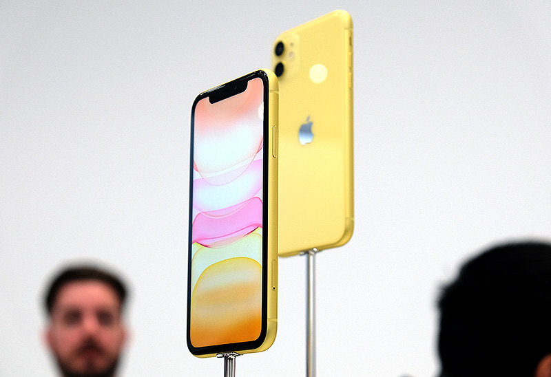 The iPhone 11 also comes in more colours.