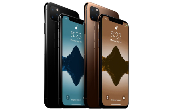 Purported render of the upcoming 2019 iPhone lineup. <br>Image source: MacRumors