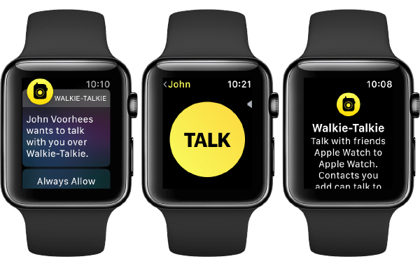 Apple introduced the Walkie Talkie feature on the Apple Watch in 2018.