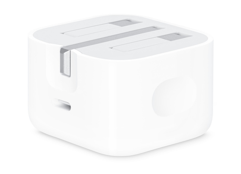 Apple's 18W USB-C power adapter.