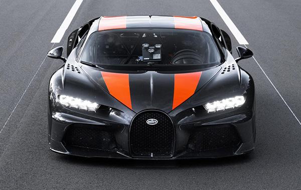 The modified Bugatti Chiron used for the speed run. (Image source: Bugatti)