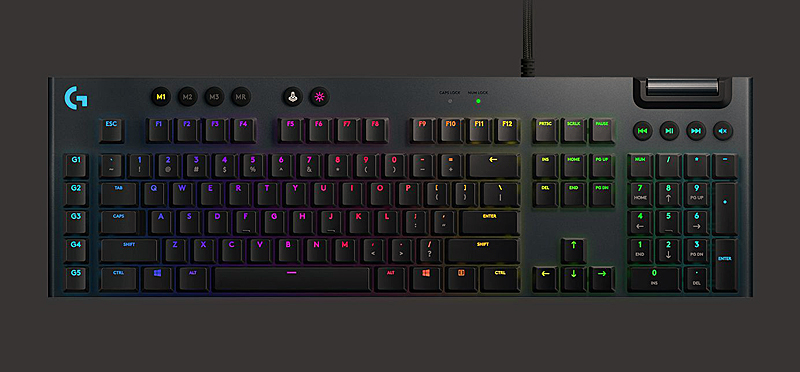 Logitech G815 Lightsync RGB mechanical gaming keyboard  (Image source: Logitech)