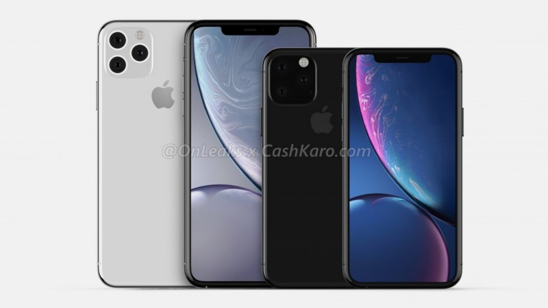 Feast your eyes on these renders. The iPhone 11 Pro (left) and iPhone 11 Pro Max (right)
