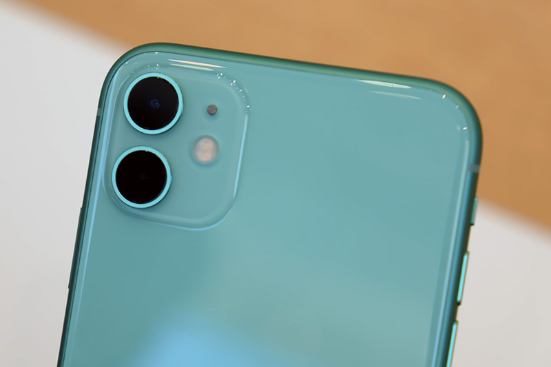 The iPhone 11 has two cameras. One wide and one ultra wide. Both shoot at 12MP.