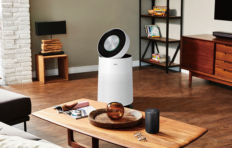 The LG PuriCare air purifier.