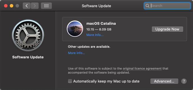 macOS Catalina is free.