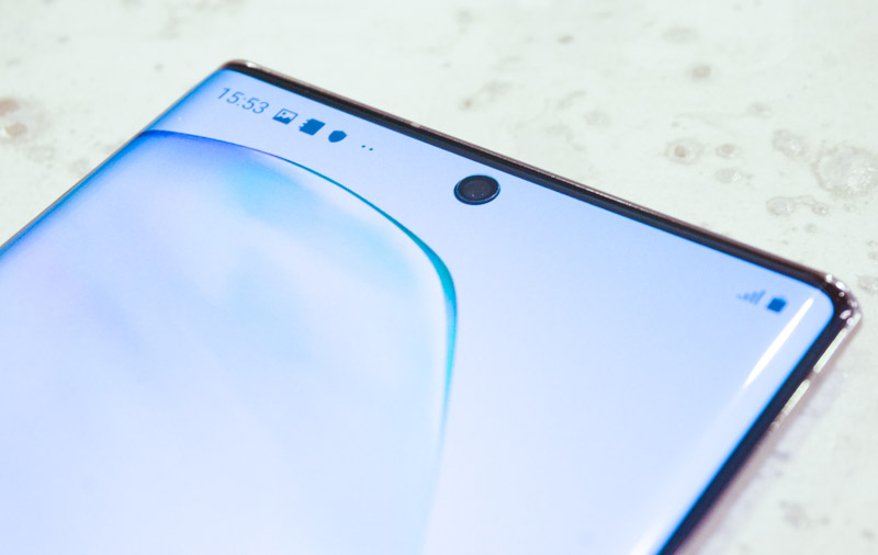 The small front camera means you get a display that covers almost the entire phone.
