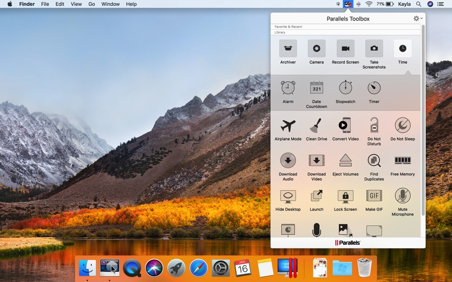 Parallels Toolbox is a collection of nifty tools for macOS.
