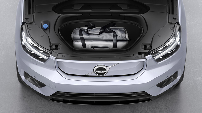 You get extra storage space up front since there's no engine. (Image source: Volvo)