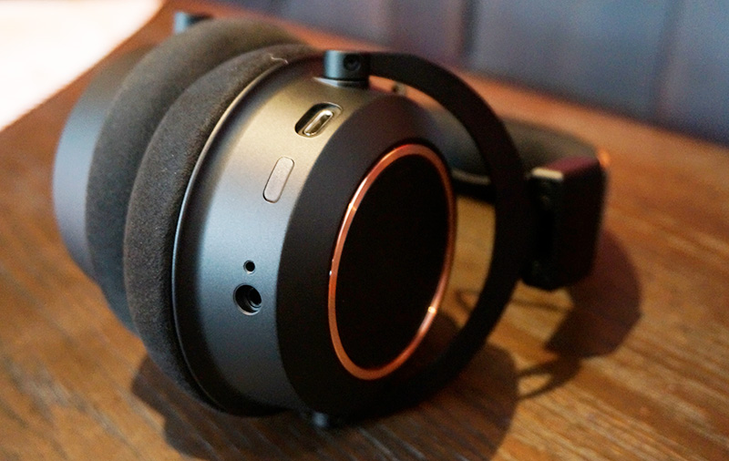 The thick ear cushions are nice, but may get too hot for our weather.