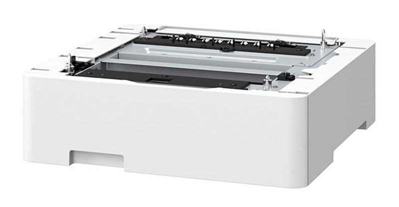 Some laser printers can be expanded with another paper tray, which is good if your needs grow down the road. This is the Canon AF1 cassette, an optional 550-sheet paper cassette that works with select imageCLASS printers such as the MF746Cx.
