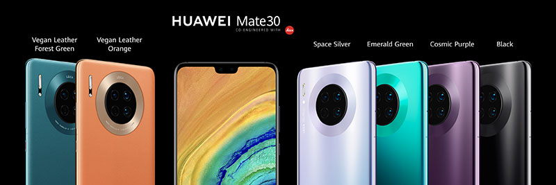 Mate 30 colour options. Source: Huawei