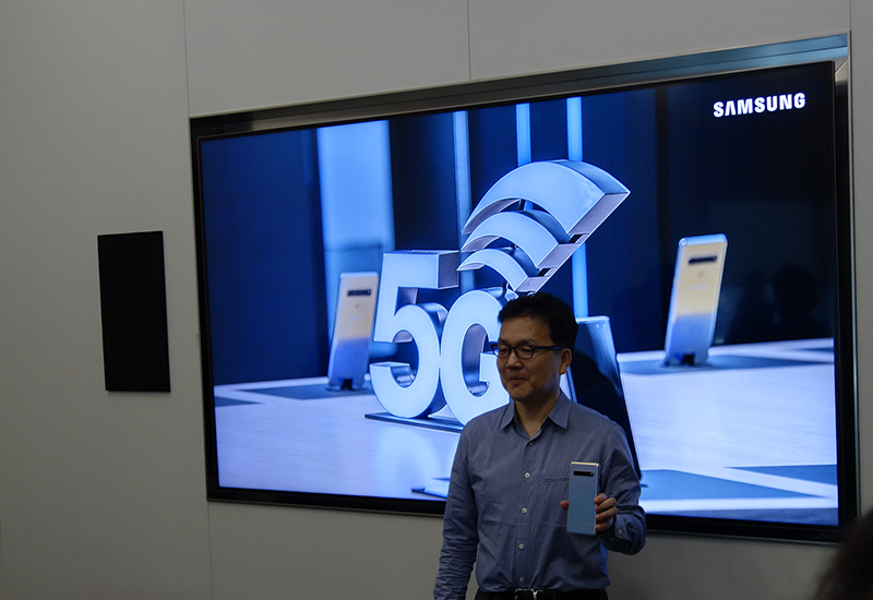 SVP Junehee Lee, Head of Technology, Mobile Communications Business shares insights about Samsung's leadership role and vision for 5G technology.