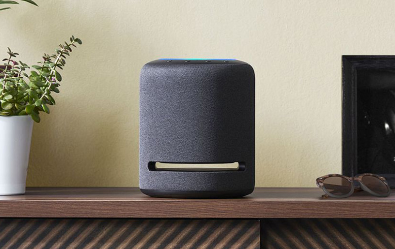 The Echo Studio is a 360 speaker that supports Dolby Atmos.