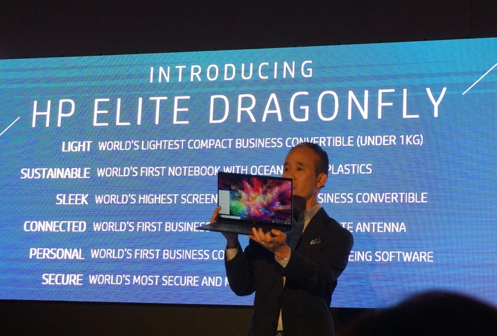 Alex Cho, President (Personal Systems) at HP kicked off the unveiling event to showcase the brand new Elite Dragonfly.