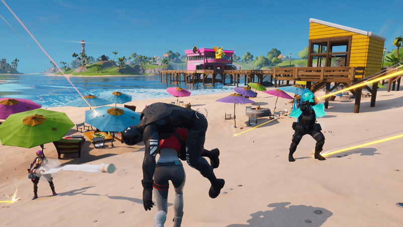 Fortnite's bright and colourful aesthetic really helps separate it from every other battle royale game in the market.