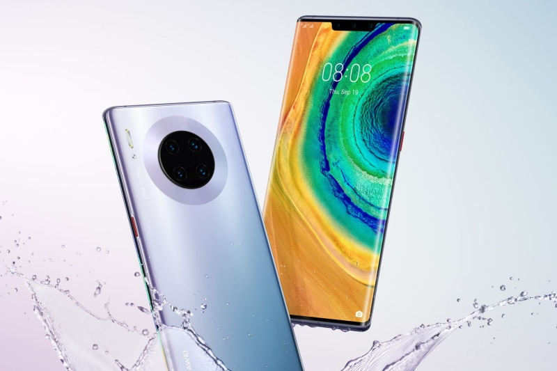 The Huawei Mate 30 Pro. <br>Image source: @evleaks