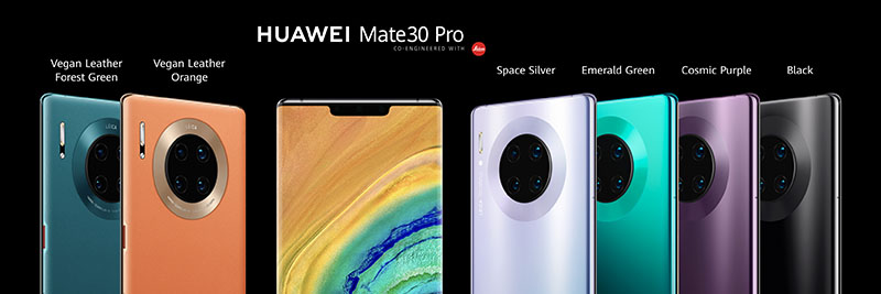Mate 30 Pro colour options. Source: Huawei