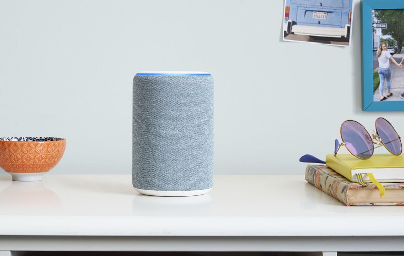 Here's the new Echo in Twilight Blue.