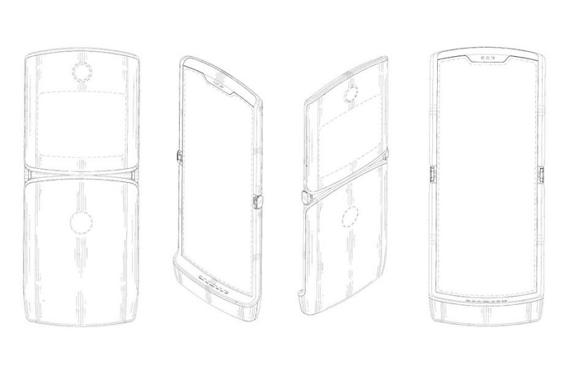 A patent filing for a smartphone with foldable display. <br>Image source: Motorola Mobility LLC
