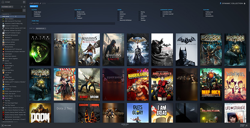 The new layout has a stronger visual focus on box art.