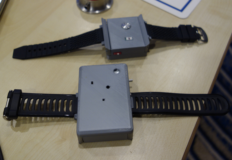 The prototype of a wrist-worn device with QDS for full ECG measurement.