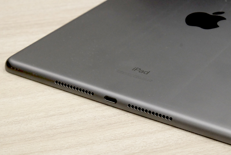 No USB-C here. The new iPad still relies on a Lightning port for charging.