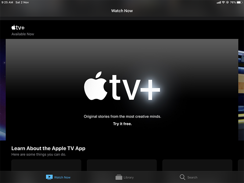 Scroll down to Apple TV+ and tap it.