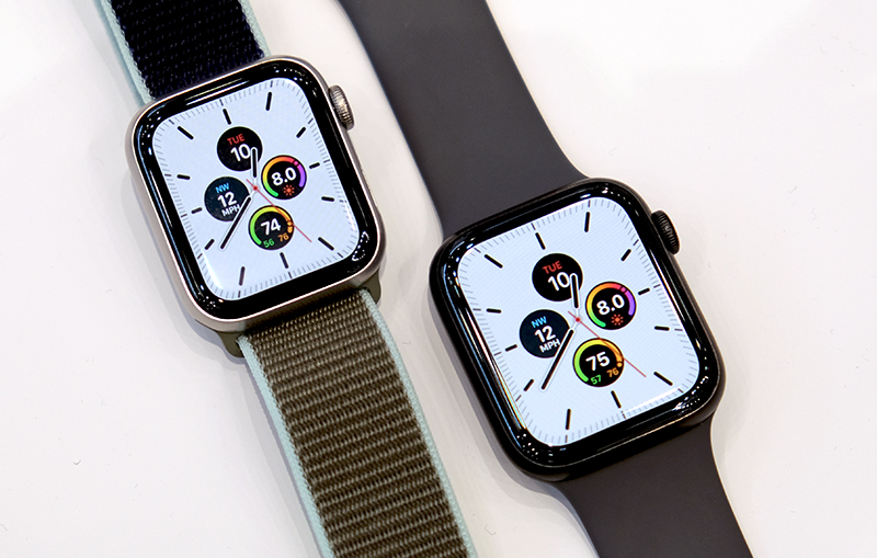 The Apple Watch Series 5 uses a LTPO display.