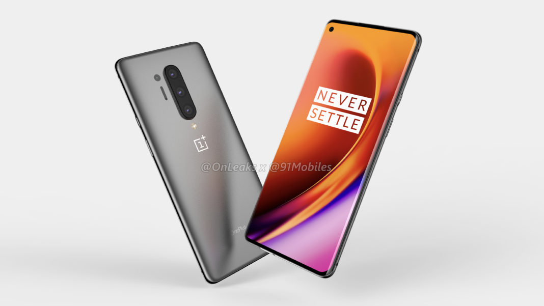 Purported render of the OnePlus 8 Pro. <br>Image source: 91Mobiles and @OnLeaks