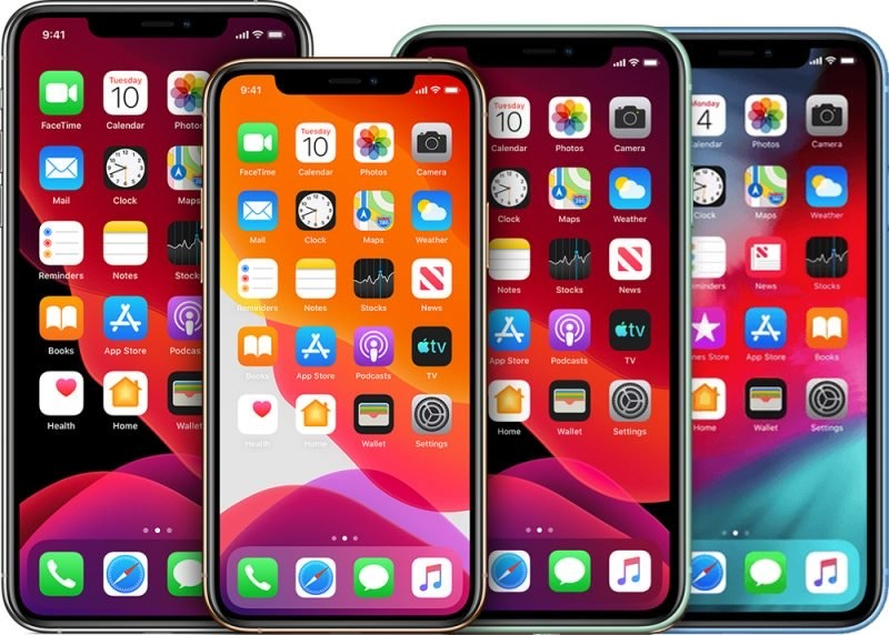 Concept renders of the 2020 iPhone models. <br>Image source: MacRumors