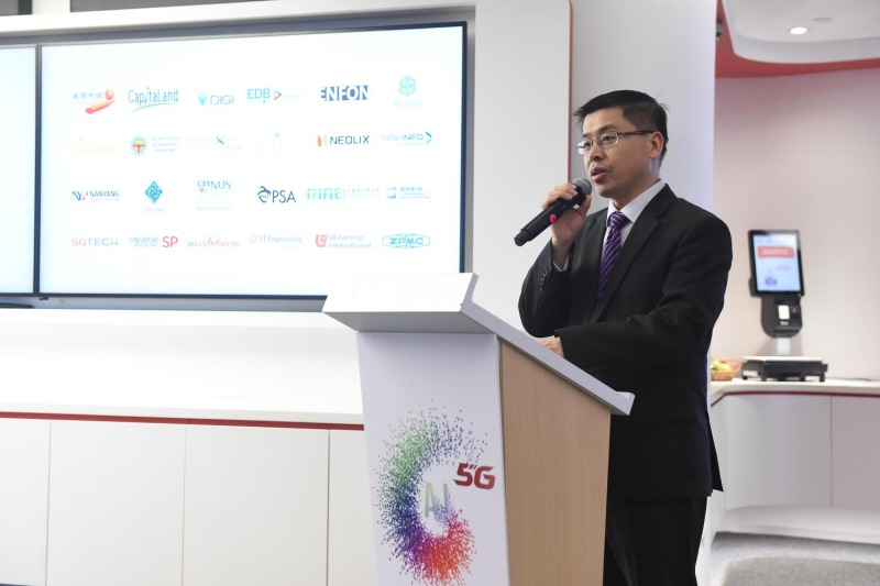 Nicholas Ma, Huawei International's chief executive showcasing some of their partners