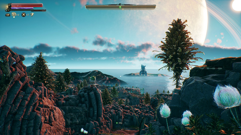 Environments in The Outer Worlds are intricately designed. You'll often feel like your surroundings are much, much bigger than they are - but that's the illusion of good environmental design at work.
