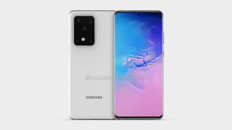 Purported render of the Samsung Galaxy S11+.