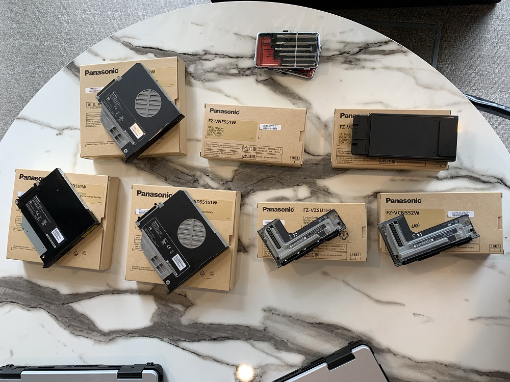 Some of the different modules available.