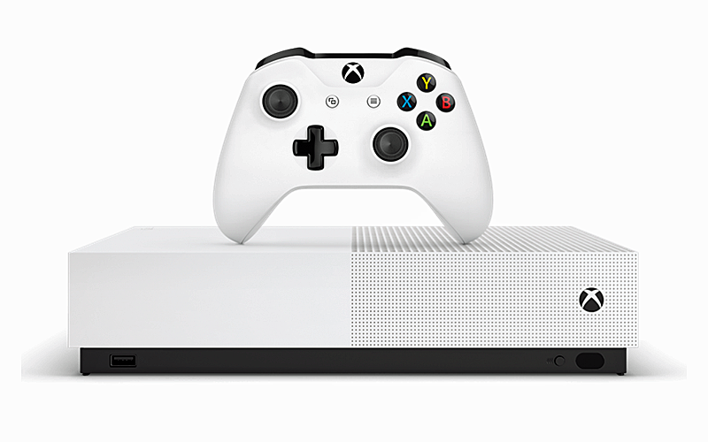 The Xbox One S All-Digital Edition. <br>Image source: Microsoft