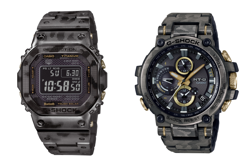 The GMW-B5000TCM-1 is on the left while the MTG-B1000DCM-1A is on the right. (Image source: Casio)